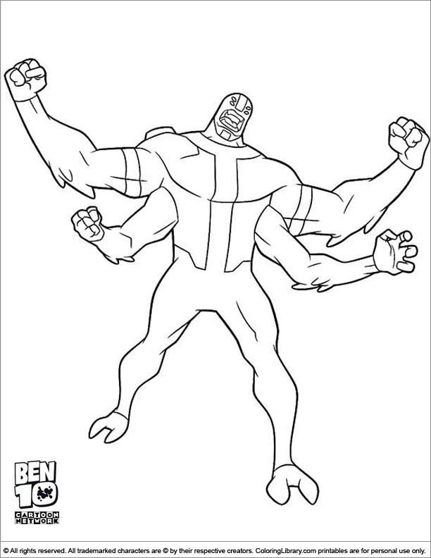 Ben 10 fun coloring page