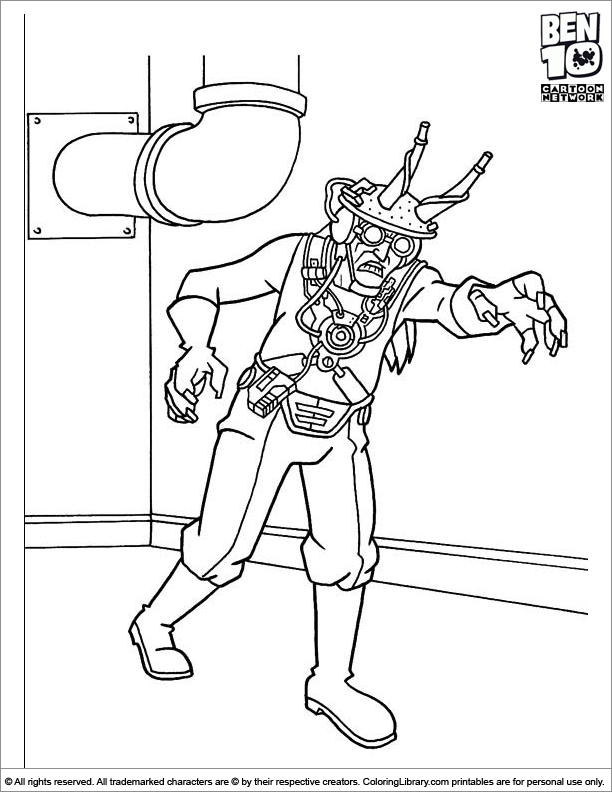 Free Ben 10 coloring page