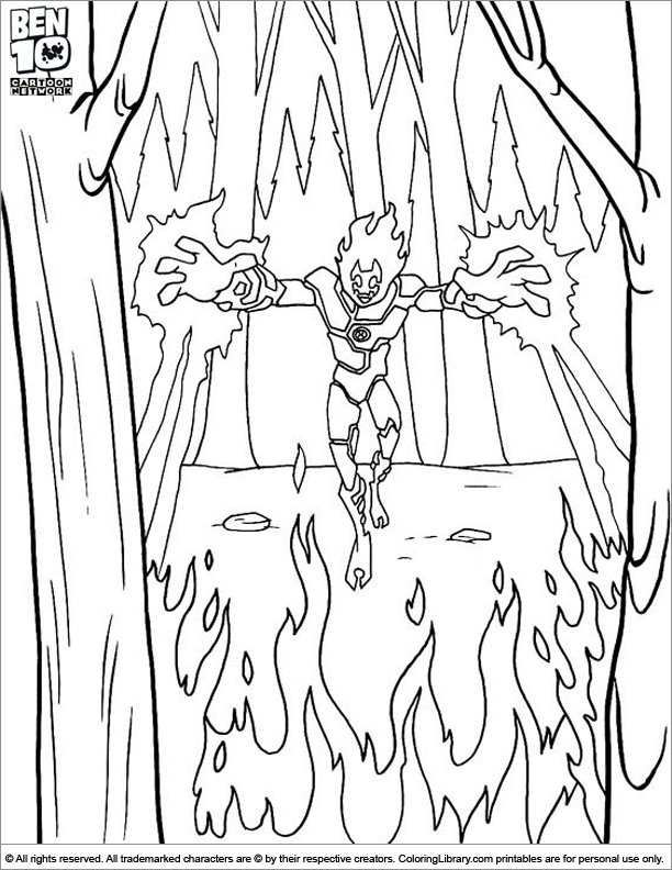 Heat blast coloring pages ~ Ben 10 Heatblast Pages Coloring Pages