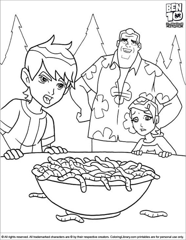 Ben 10 coloring book page