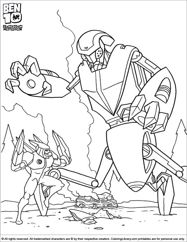 Ben 10 coloring for kids