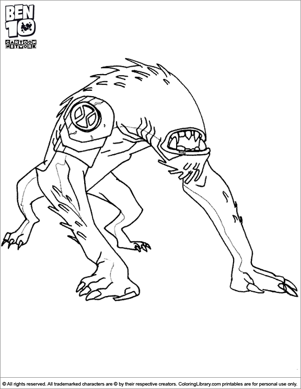 ben coloring pages - photo#34