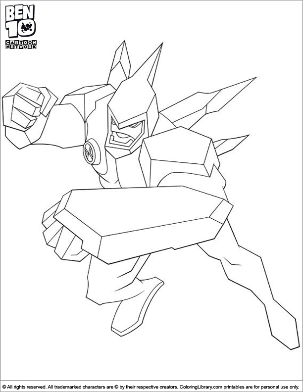ben 10 coloring pages goop - photo#24