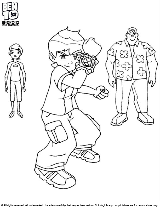 Ben 10 coloring picture to print