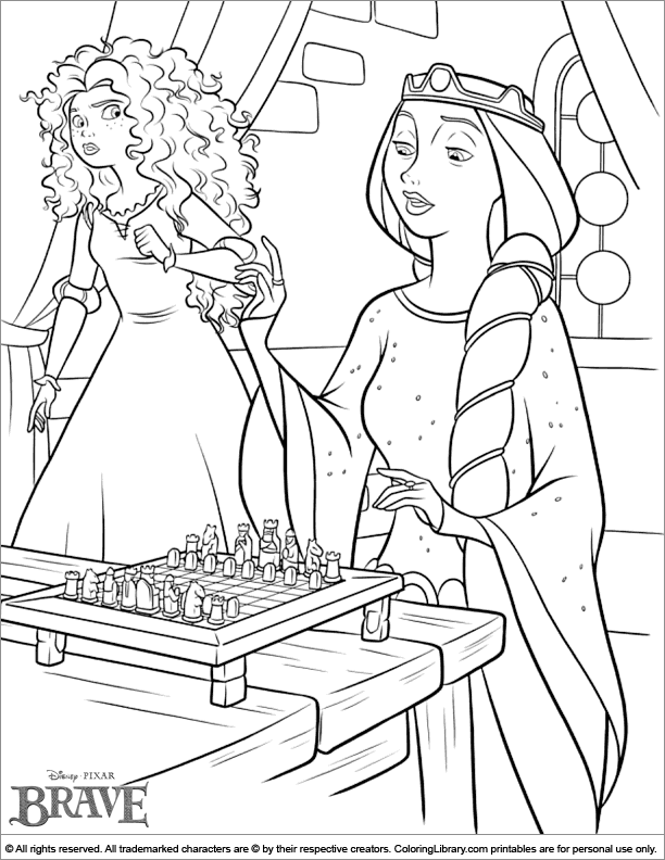 brave coloring pages games free - photo#36