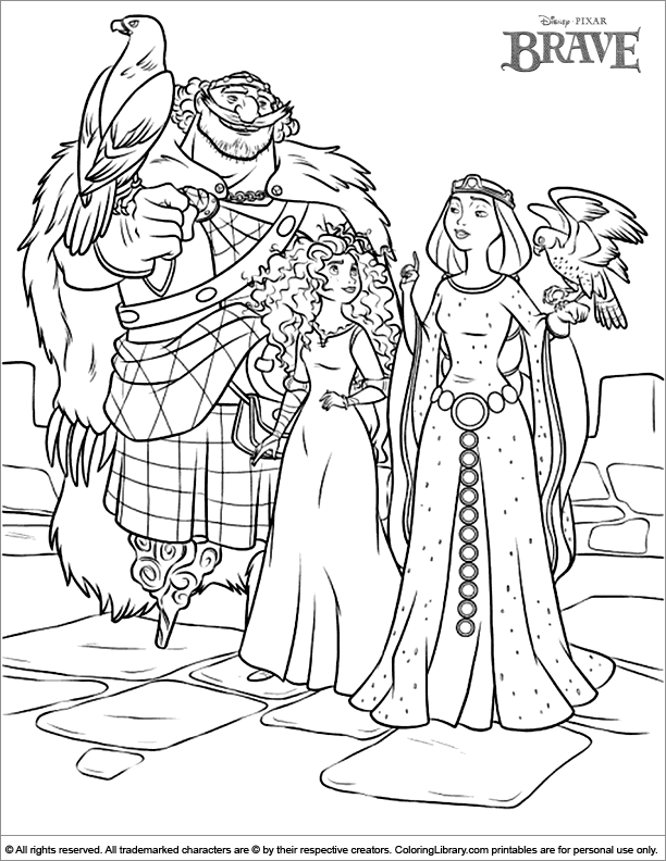 Brave Coloring Page For Kids Coloring Library