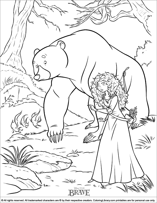 Brave coloring picture coloring library for Brave coloring pages