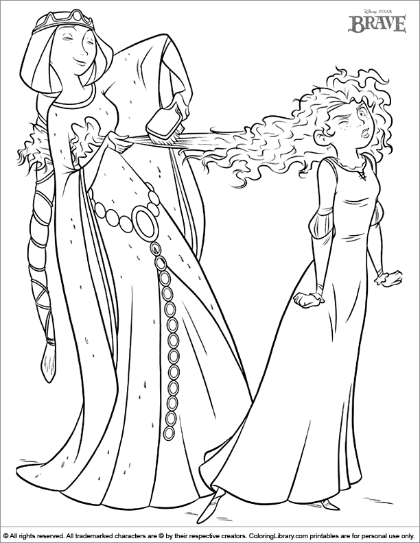 Brave Elinor Coloring Pages