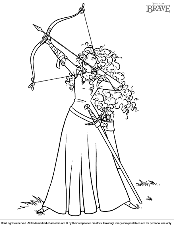 Brave coloring page to print