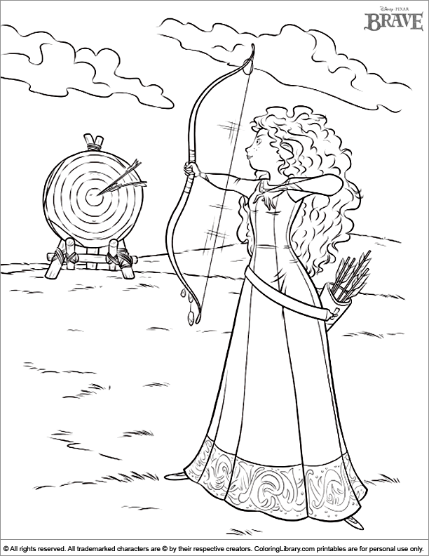 brave coloring pages games kids - photo#5