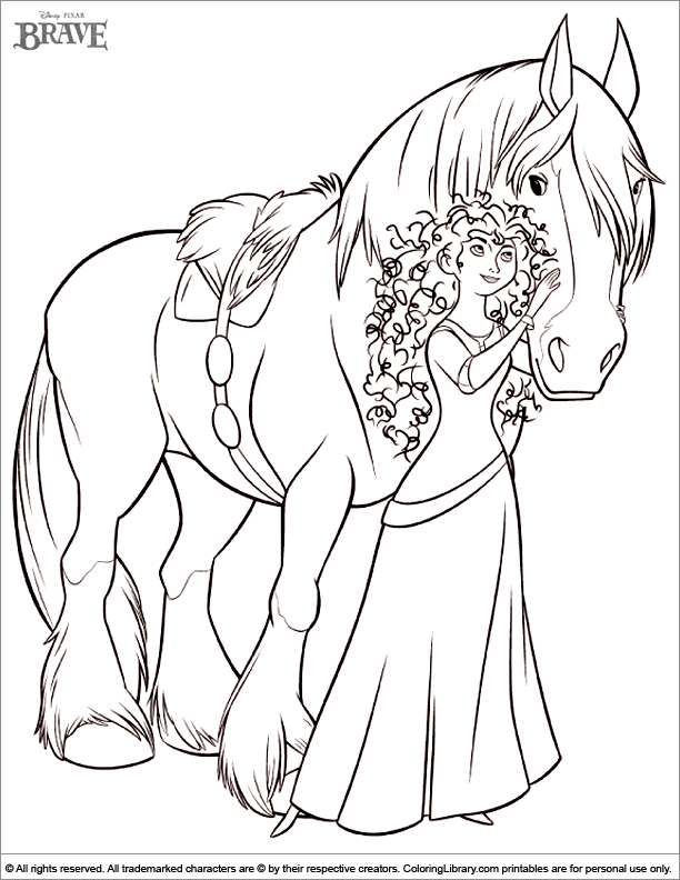 brave coloring pages-#5