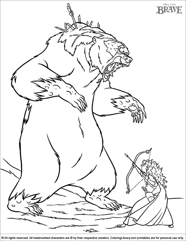 brave coloring pages games free - photo#26