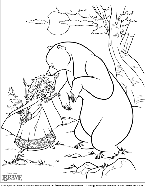 brave coloring pages games free - photo#23