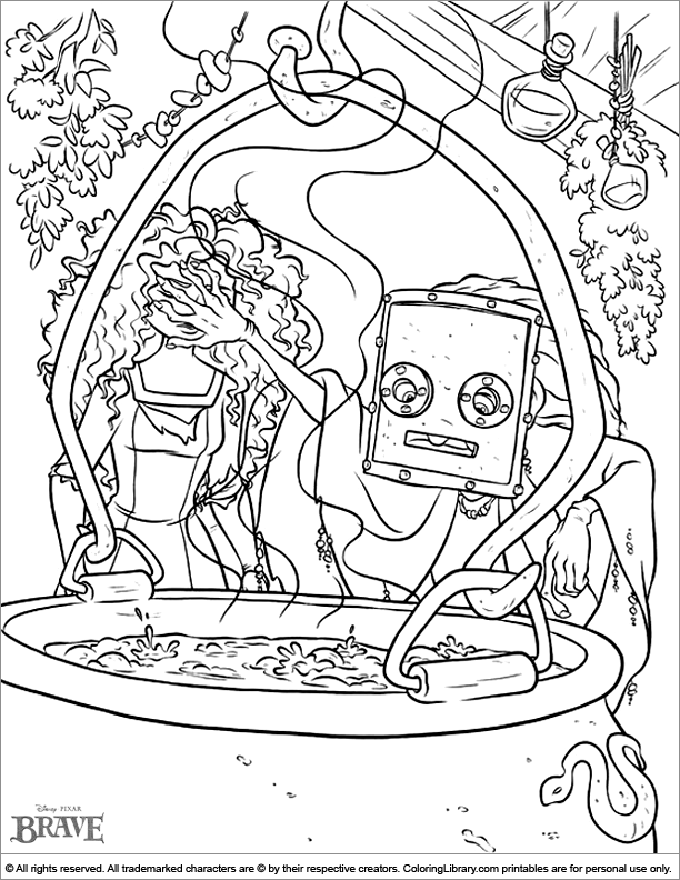 Free Brave coloring page