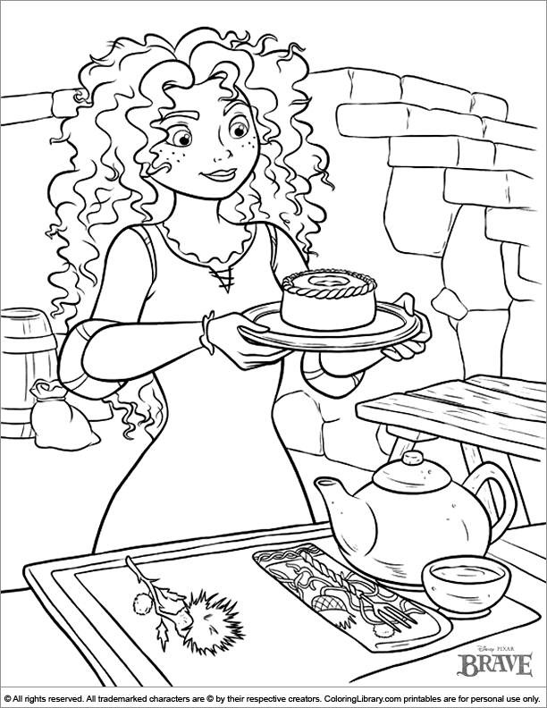 Brave coloring image