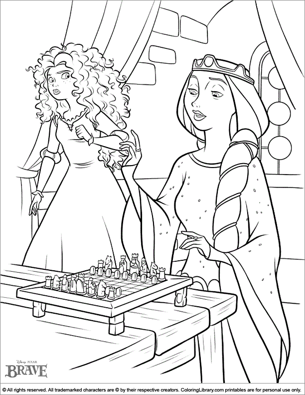 Brave free printable coloring page