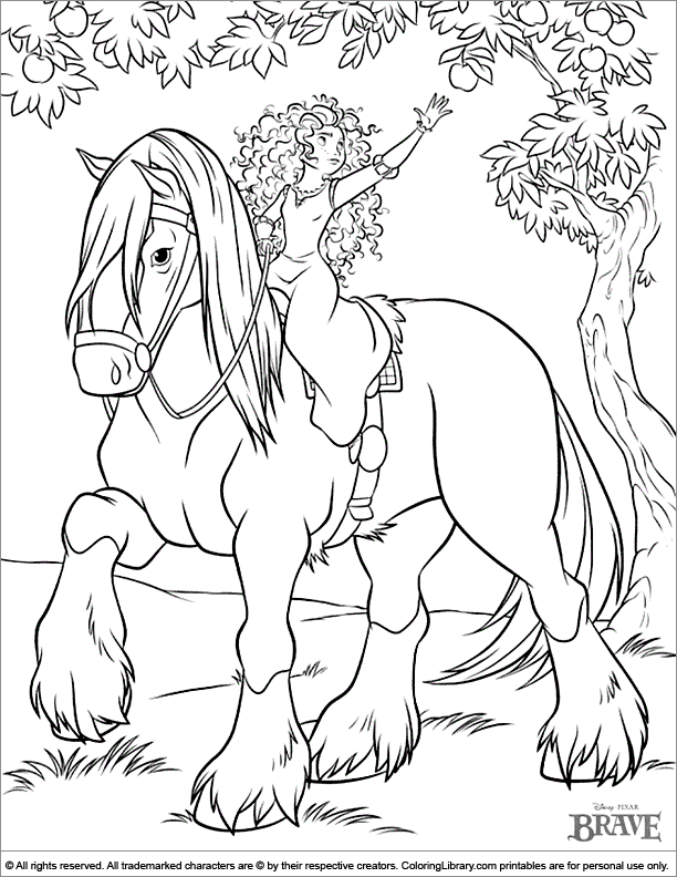 Brave coloring pictures for kids