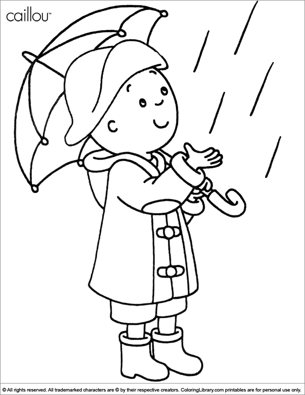 caillou coloring picture - Caillou Gilbert Coloring Pages