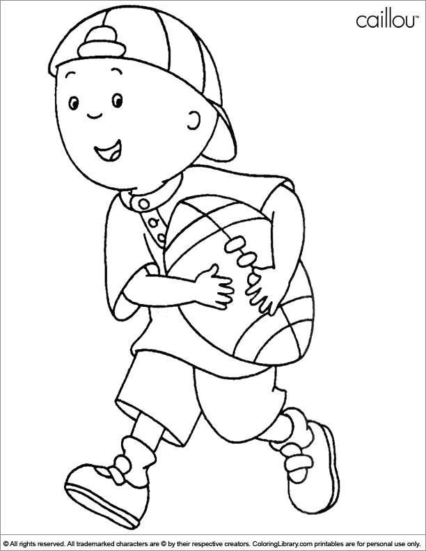 Caillou Coloring Picture Caillou Colouring Pages