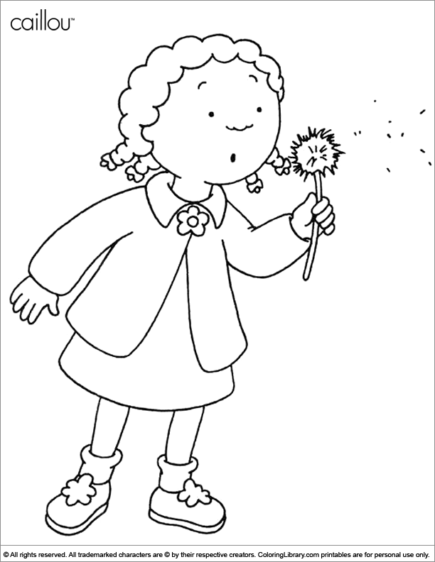 Caillou coloring picture coloring library for Caillou printable coloring pages
