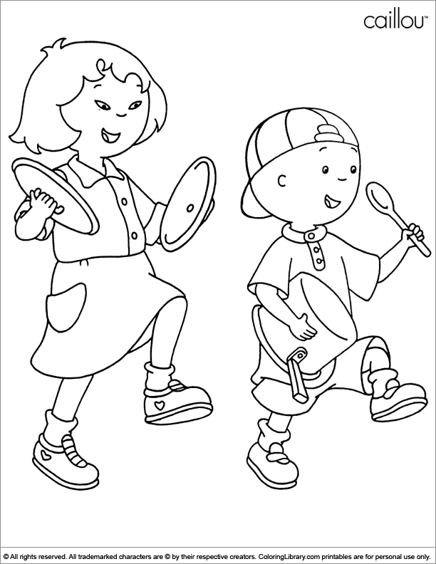 Caillou free coloring page
