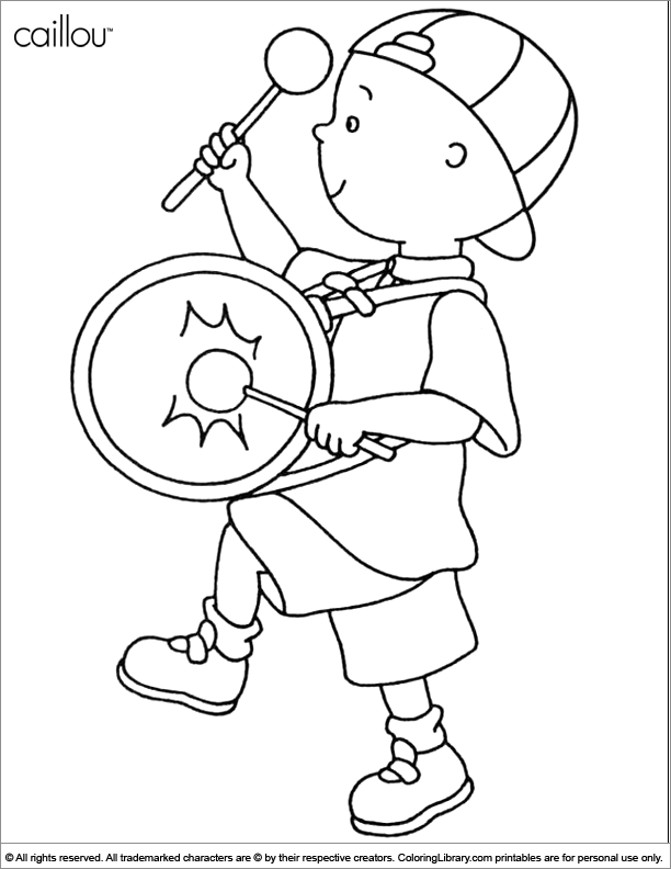 Caillou printable coloring page - Coloring Library