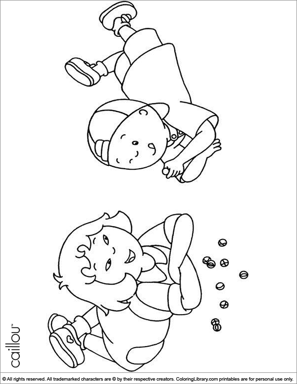 Caillou free coloring sheet