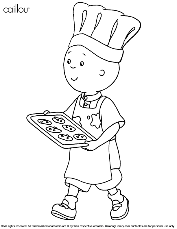Caillou Coloring Picture