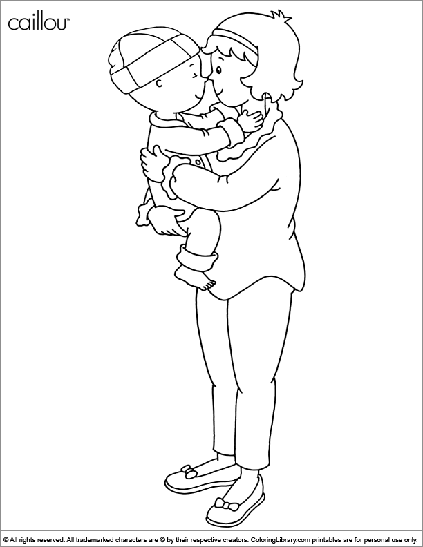 Caillou free coloring