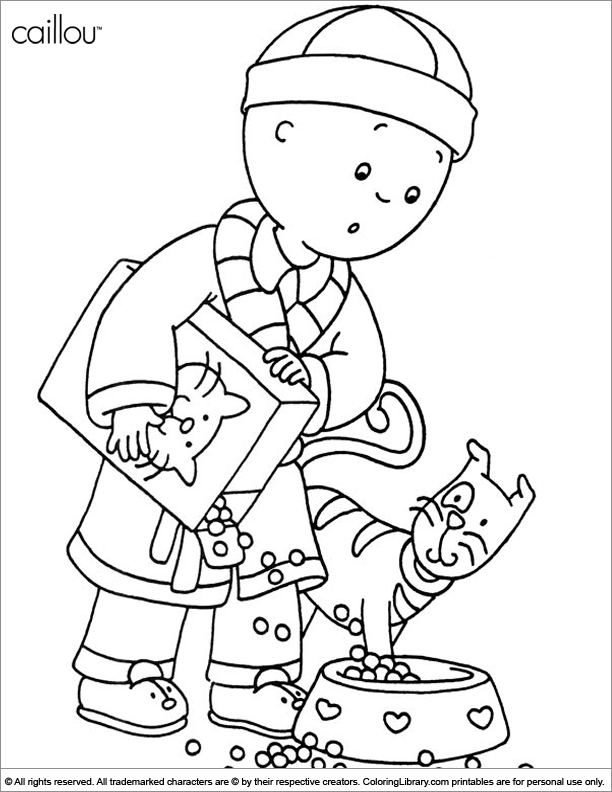 caillou coloring pages gilbert - photo#43