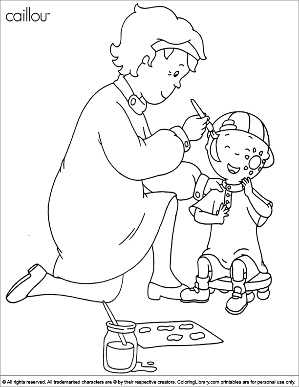 calliou coloring pages - caillou coloring sheet for kids coloring library
