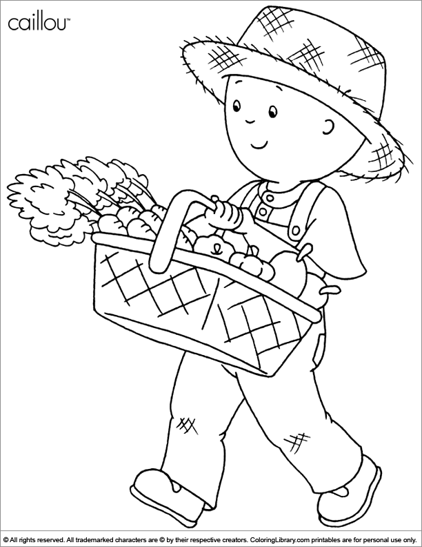 Caillou coloring picture to print