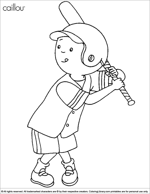 Caillou coloring book page for kids - Coloring Library