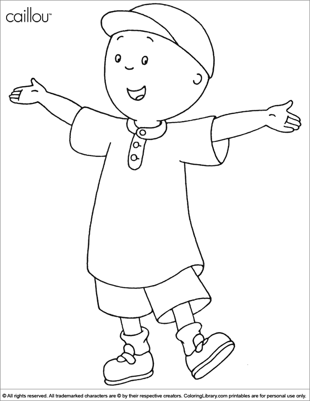 Caillou coloring for kids