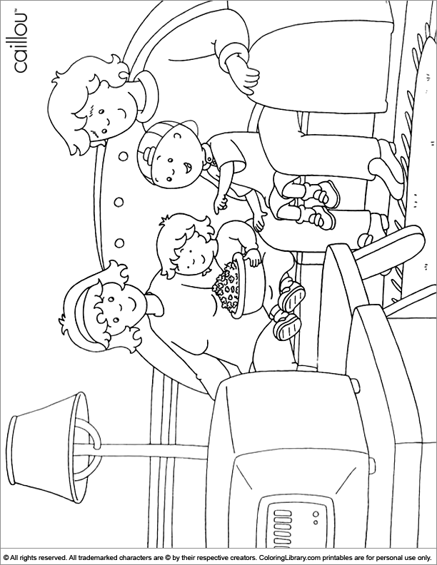 Caillou online coloring page