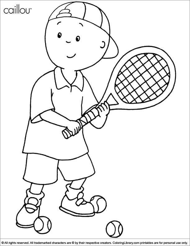 Caillou color sheet