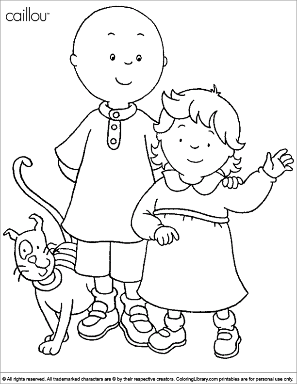 Caillou coloring page fun