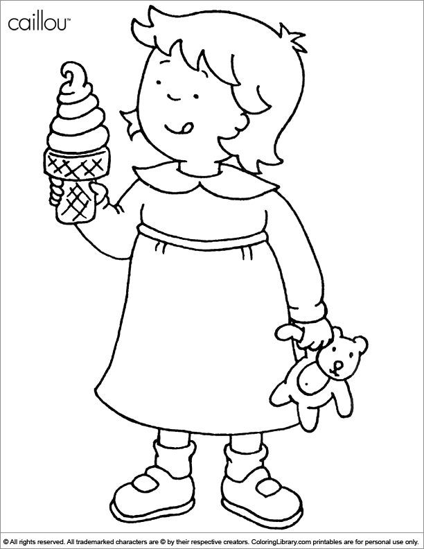 Caillou coloring book picture