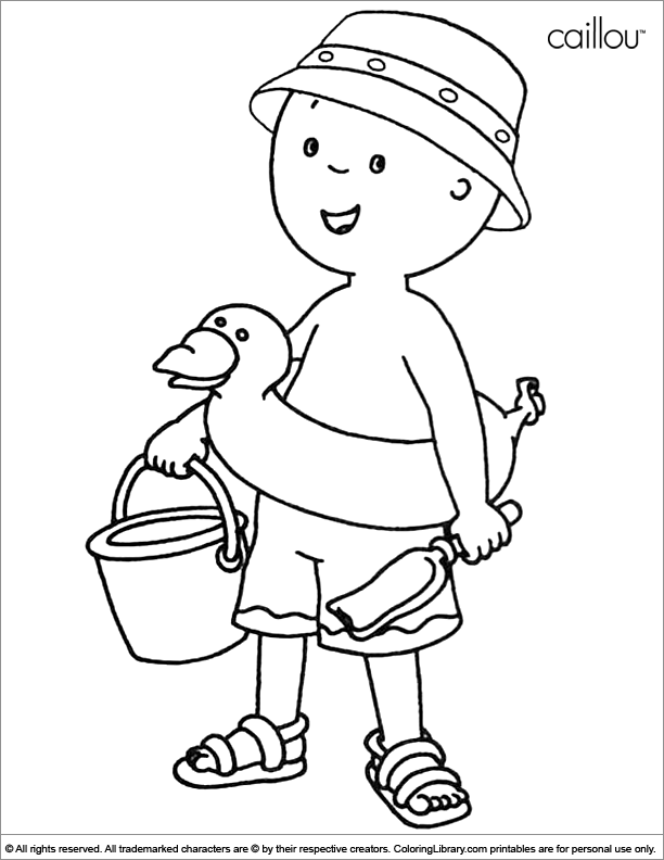 Caillou coloring fun