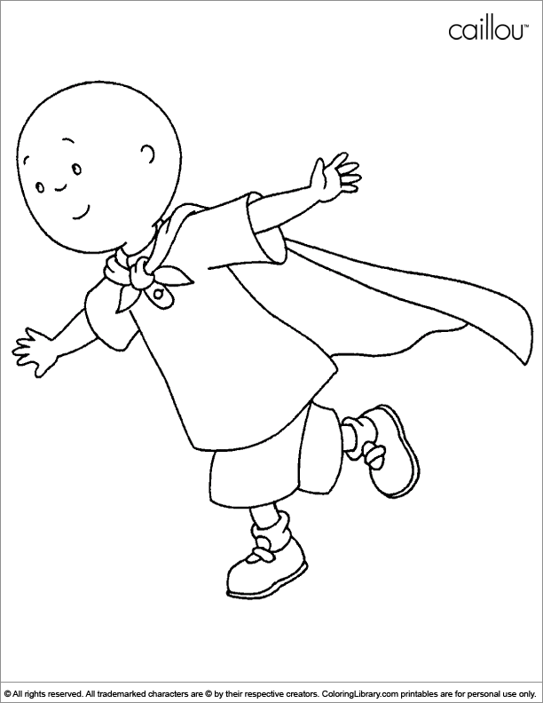 Caillou colouring page