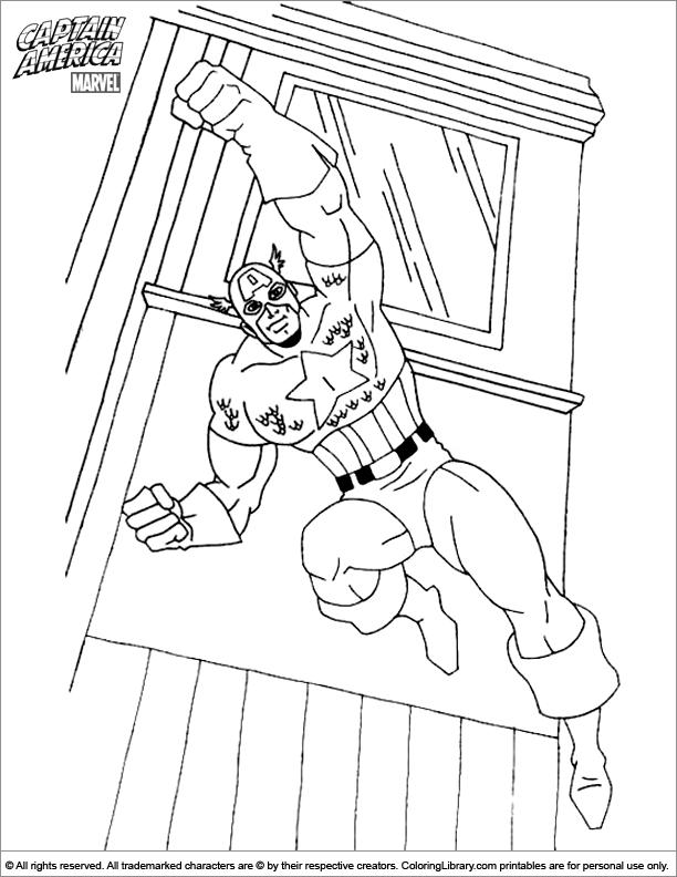 Captain America coloring book printable