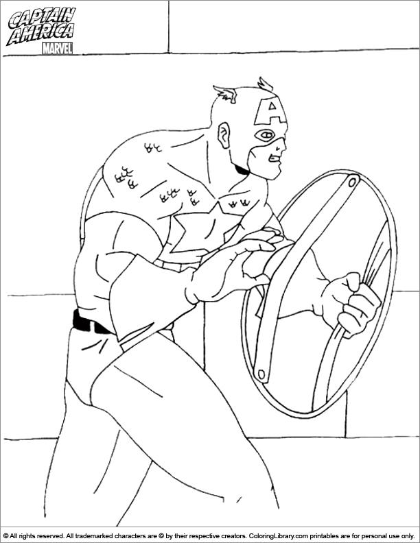 Captain America free coloring sheet