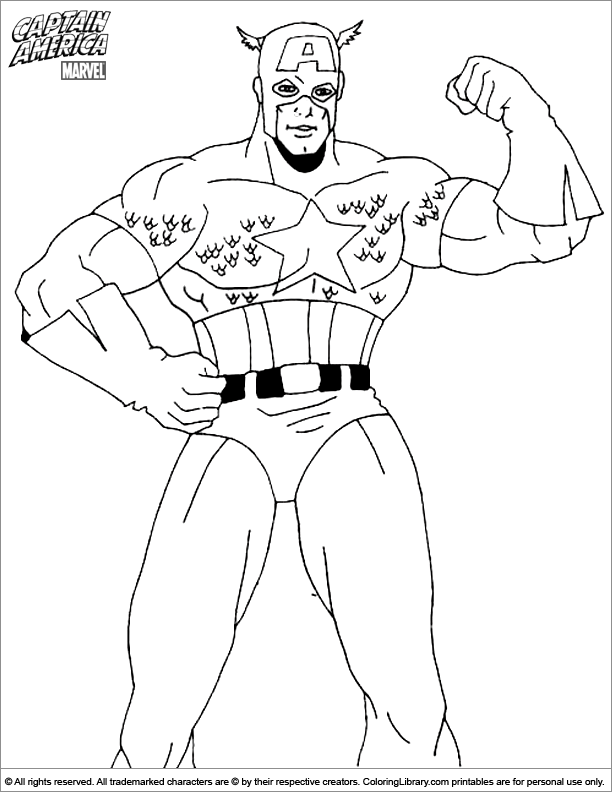 Free Captain America coloring page