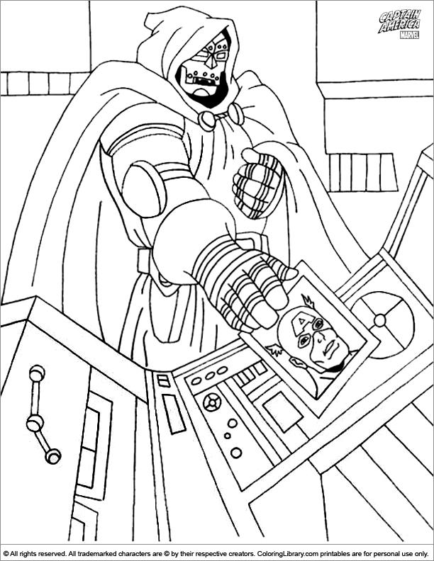 Captain America coloring image