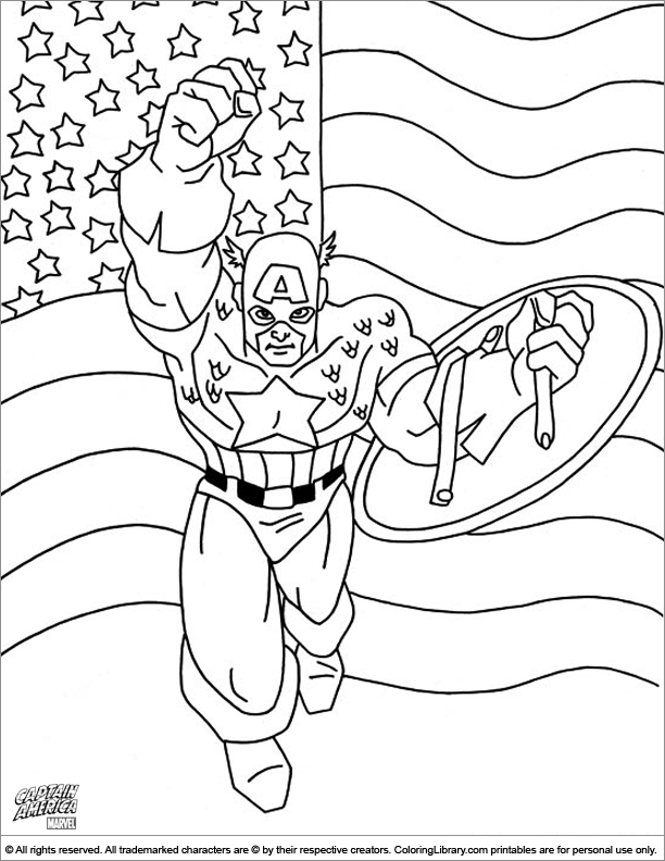 Captain America coloring picture to print