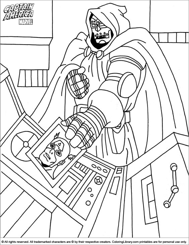 Captain America coloring page for kids
