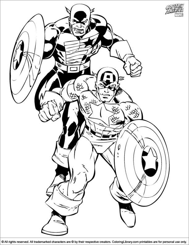Captain America for coloring