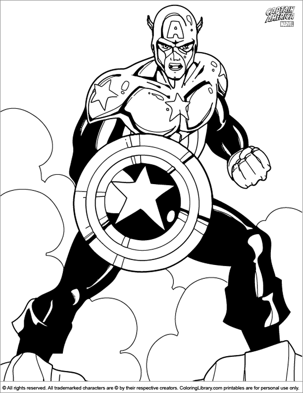 Captain America printable coloring page for kids