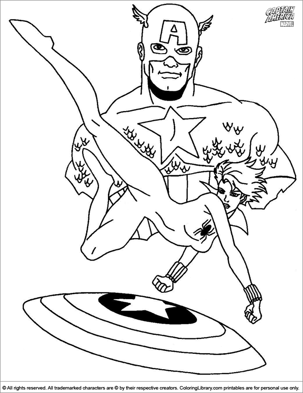 Captain America coloring book printable - Coloring Library