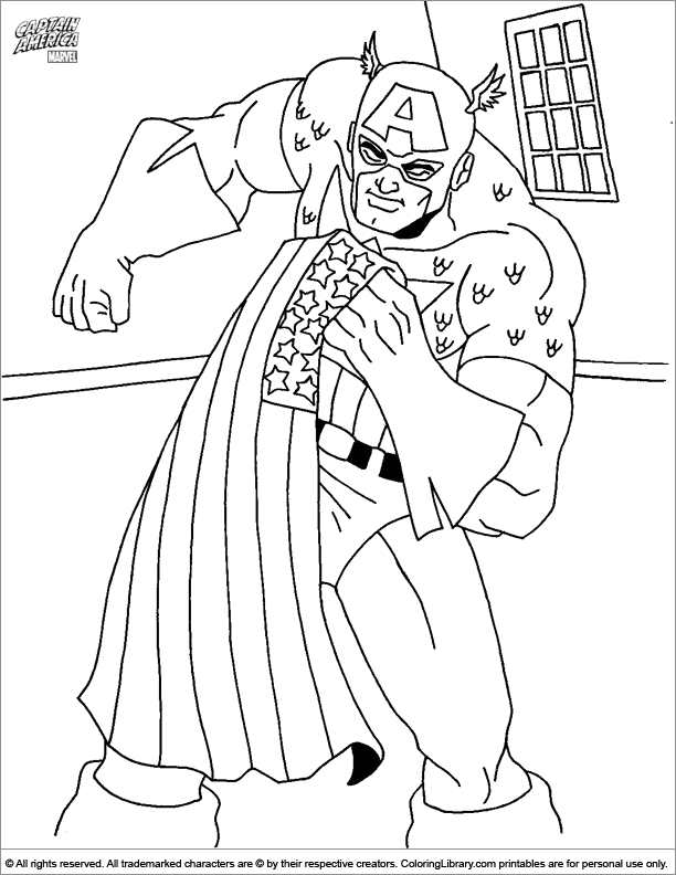 Captain America coloring sheet to print